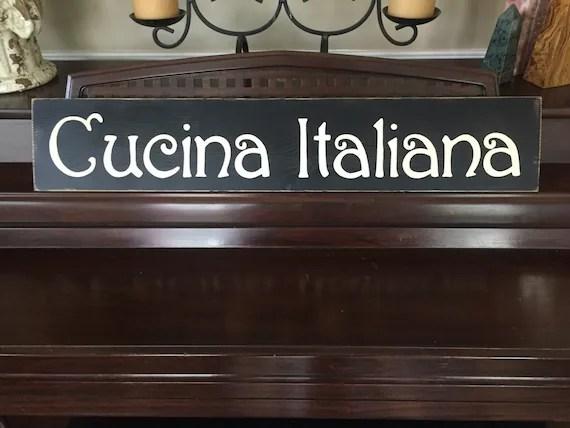 CUCINA ITALIANA Italian Kitchen Italy Chef Decor Sign Plaque