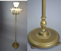 Vintage 1920's Rembrandt Art Deco 4 Light Mogul Floor Lamp