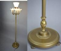 Vintage 1920's Rembrandt Art Deco 4 Light Mogul Floor Lamp