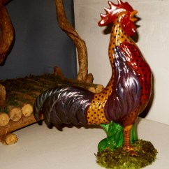 Rooster Statue For Kitchen Premade Islands Chicken Country Farmhouse Decor