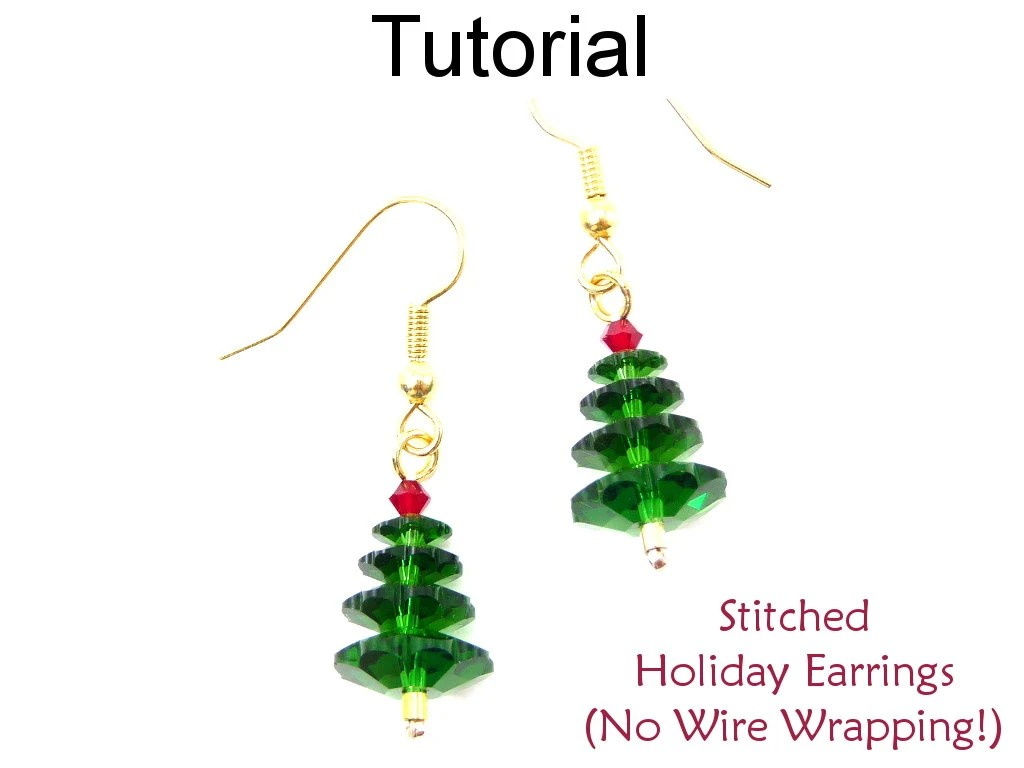 Christmas Earrings Beading Tutorial Easy Beginner Project