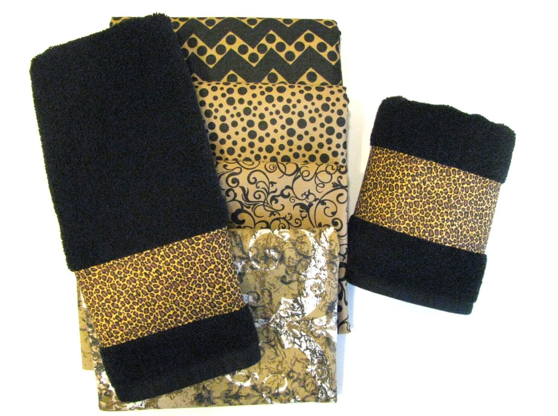 Black Brown Towels Custom Towels Black Bathroom Black