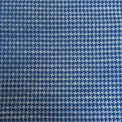 Houndstooth Sofa Fabric Chesterfield Uk Second Hand Blue And White Eames Upholstery 40 Quot By