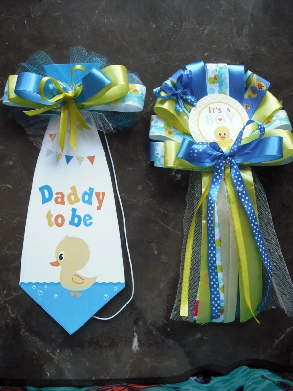 Mommy And Daddy Baby Shower Corsage Duck Set