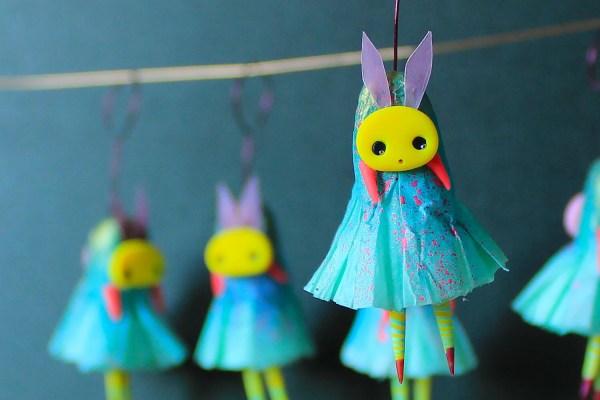 Whimsical Bunny Figurines