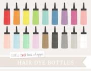hair dye bottle clipart applicator