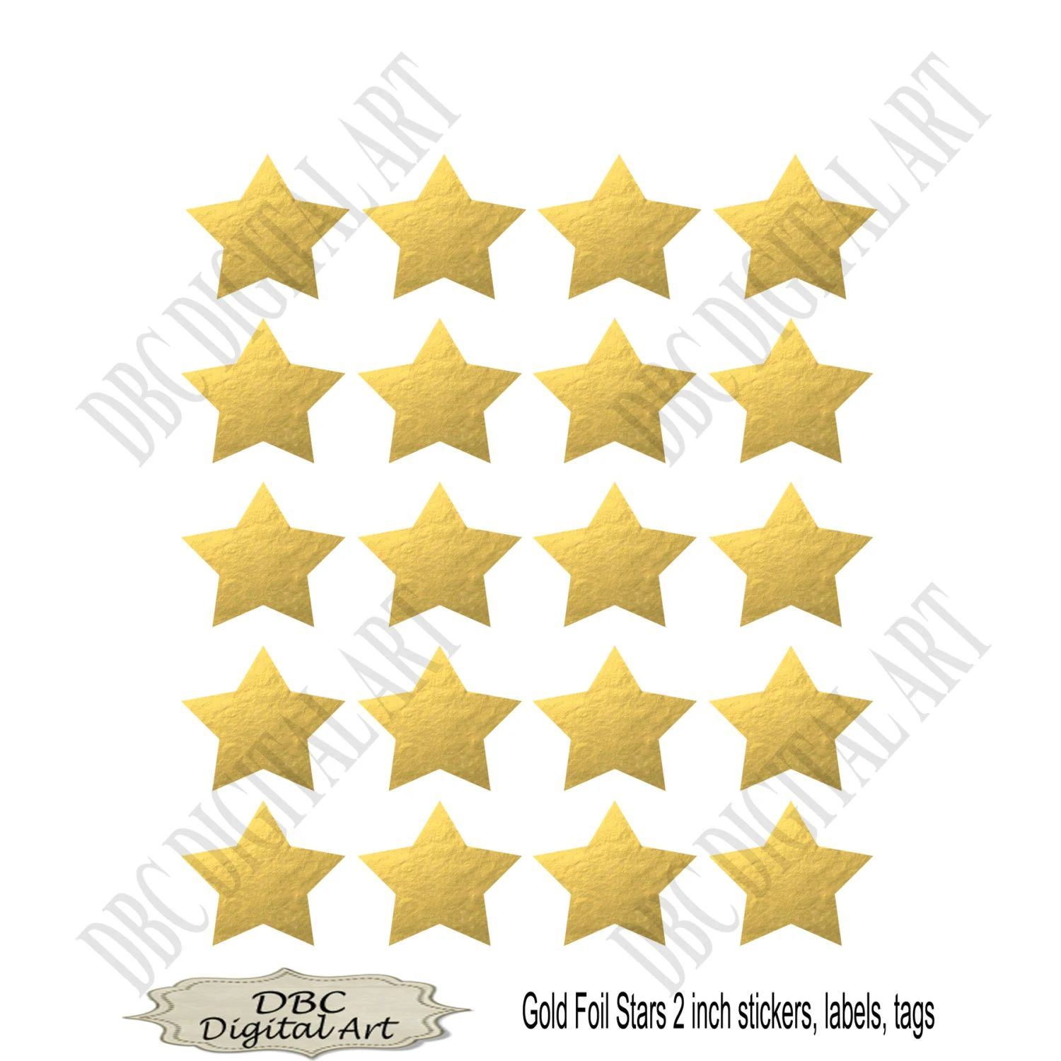 printable star stickers