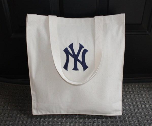 Ny Yankees Bag Heavy Canvas Tote Beach