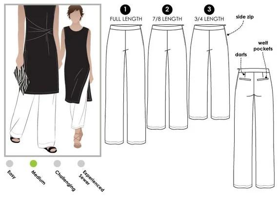 Natasha Woven Pant // Sizes 22 24 & 26 // PDF Women's