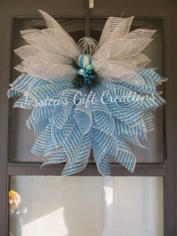 Beautiful Christmas Deco Mesh Angel/Blue and by ...