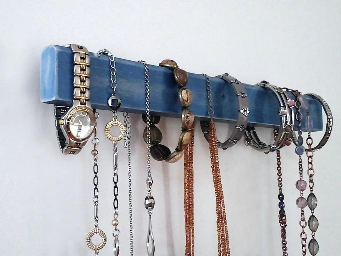 Jewelry Organizer Wall Mount Necklace Holder Rack Bracelet