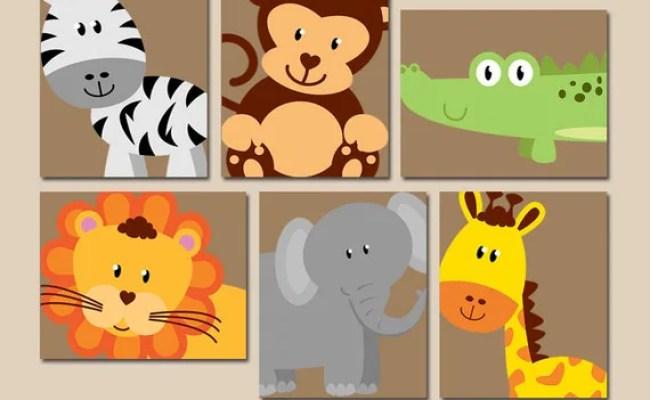 Safari Animal Wall Art Animal Nursery Decor Zoo Jungle