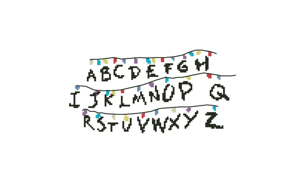 Stranger Things Cross Stitch Alphabet Wall by StitchyLittleFox
