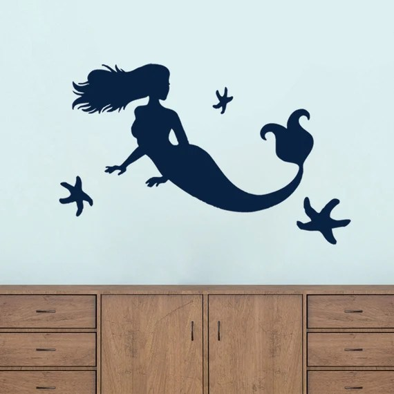 Mermaid and Starfish Decal by SweetumsSignatures