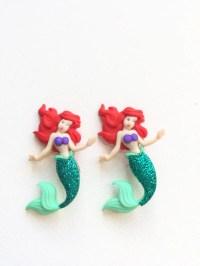 Ariel Earrings Princess Ariel Stud Earrings The Little