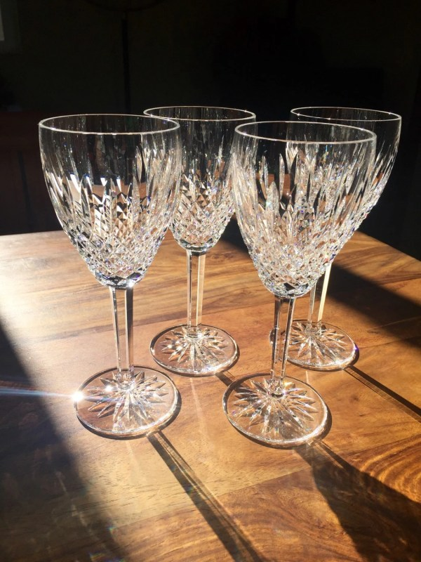 Waterford Crystal Ireland Castlemain Claret Wine Glass Set