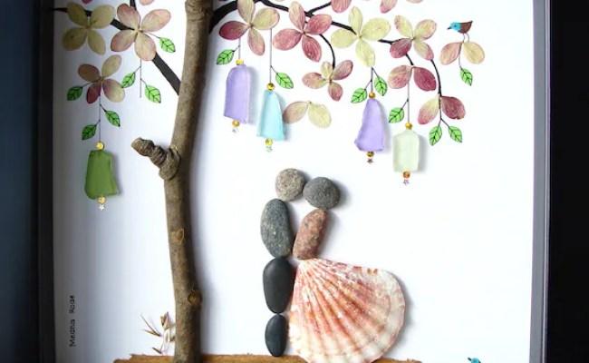 Wedding Gift Pebble Art Unique Engagement Gift Personalized