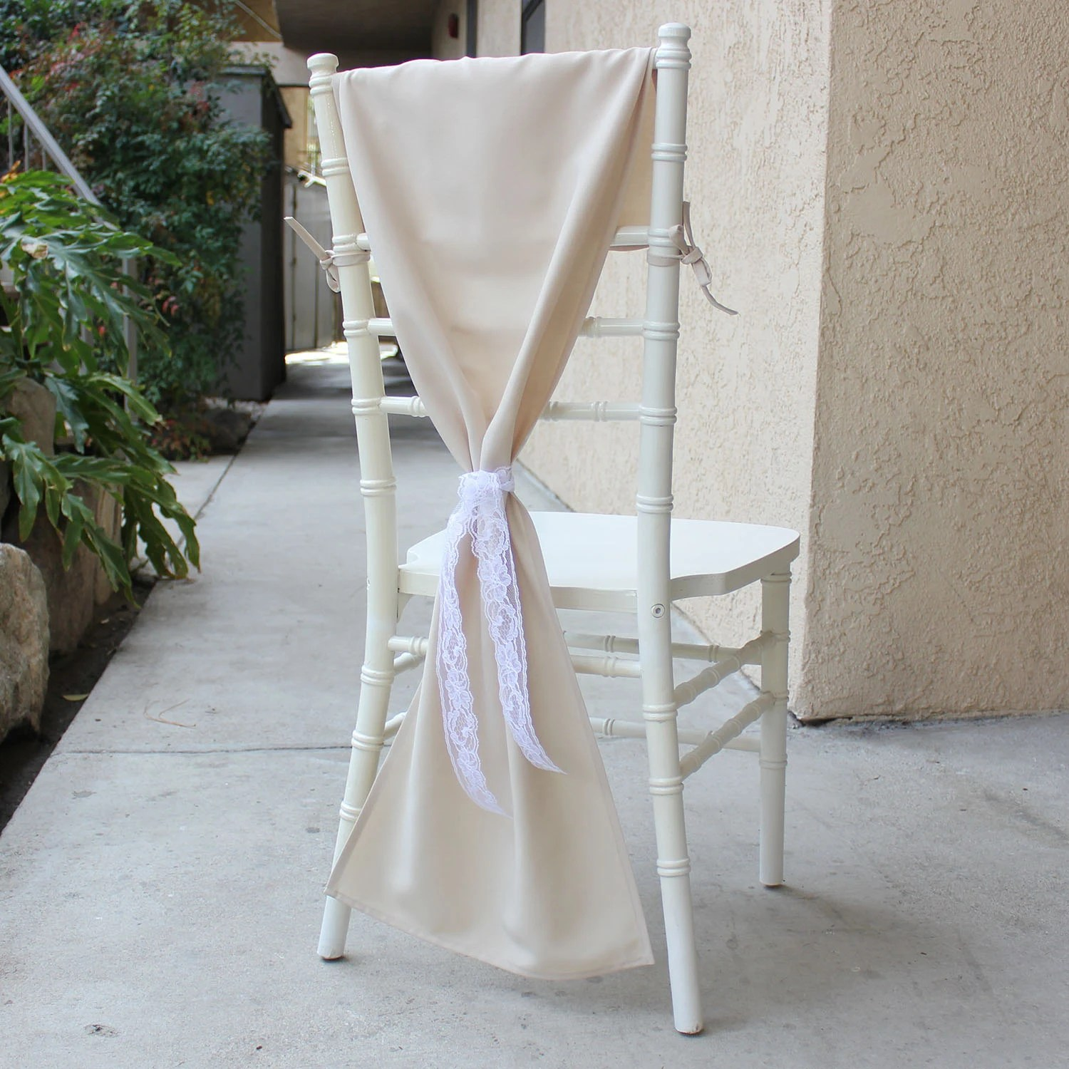 chiavari chair covers for weddings resin wicker lounge chairs sale hoods champagne by burlapandsilkcompany