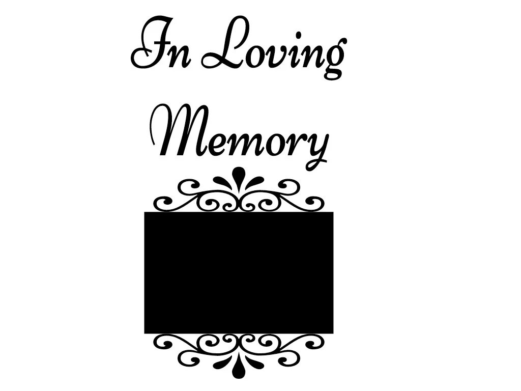 In Loving Memory Photo Frame CUT & Fold Book Folding