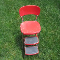 Cosco Retro Counter Chair Step Stool Preschool Tables And Chairs Stylaire Red Vintage Mid Century Atomic