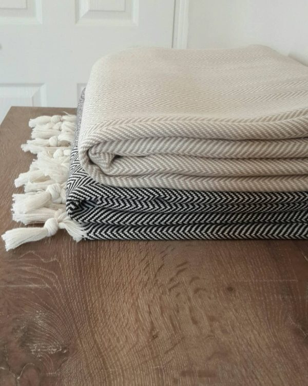 100 Cotton Blanket Woven Throw Cottonmood
