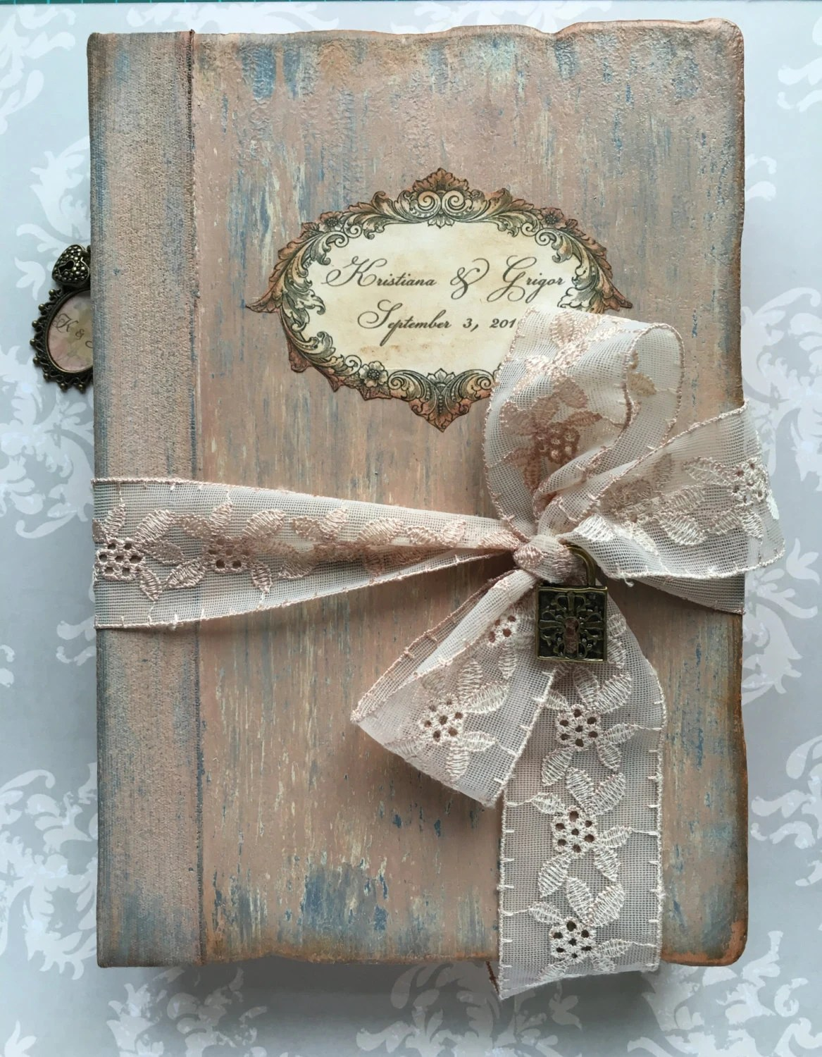 Vintage Wedding Guest Book video Shabby Chic Antique Photo