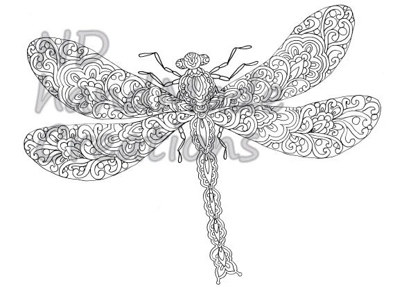 Paisley Doodle butterfly N2 Pattern by NDhandMadeCreations