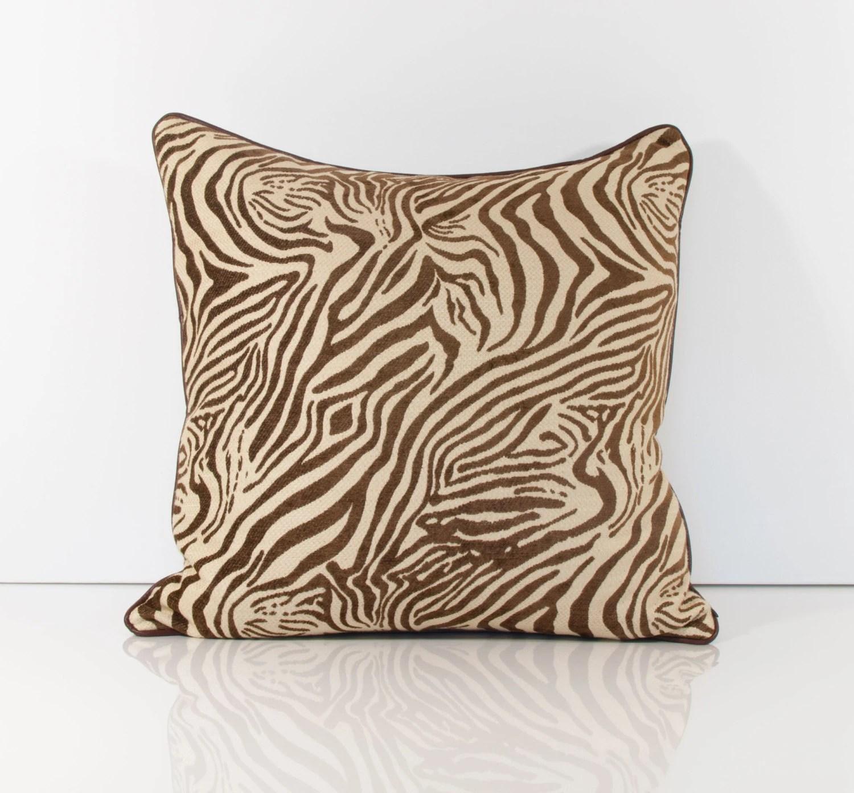 Animal Print Pillow Cover Brown Pillow Cover Zebra Pillows