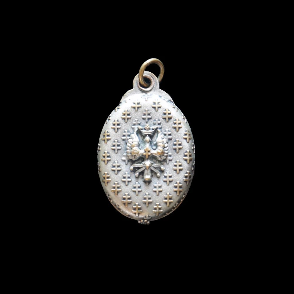 Mirror Locket Crowned Eag...