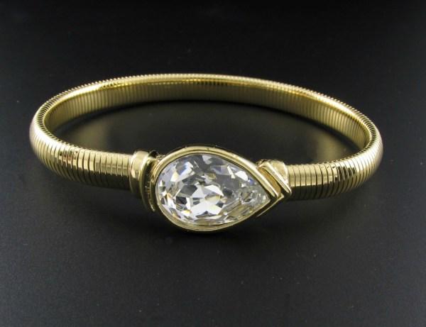 Trifari Rhinestone Bracelet Snake Chain