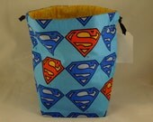Superman logo Drawstring ...