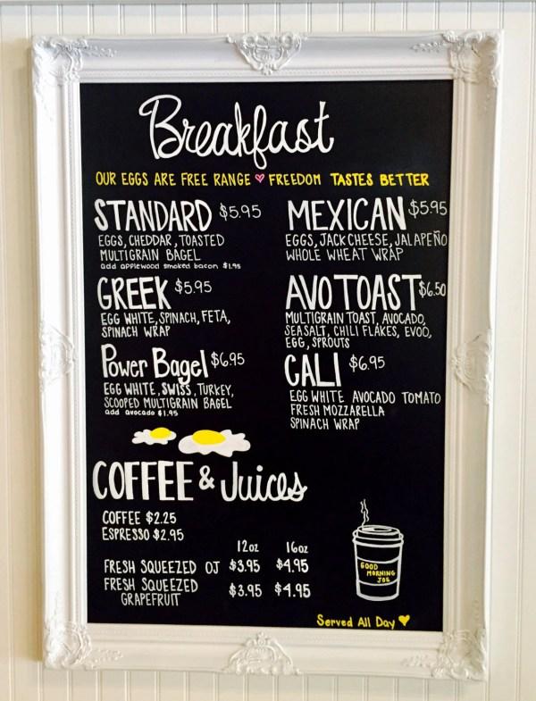 Restaurant Chalkboard Menu Board