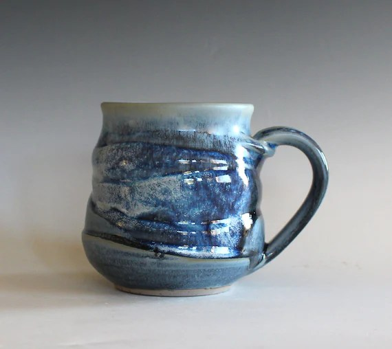 Coffee Mug Pottery 16 oz unique coffee mug handmade ceramic