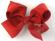 extra large hair bow red