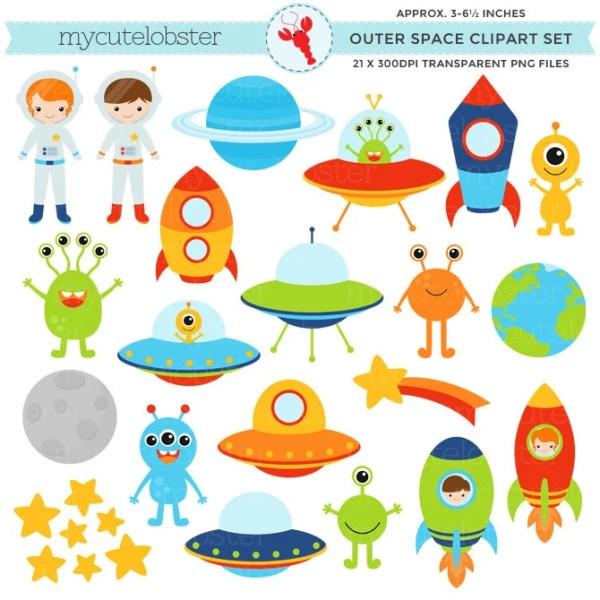 outer space clipart set clip art