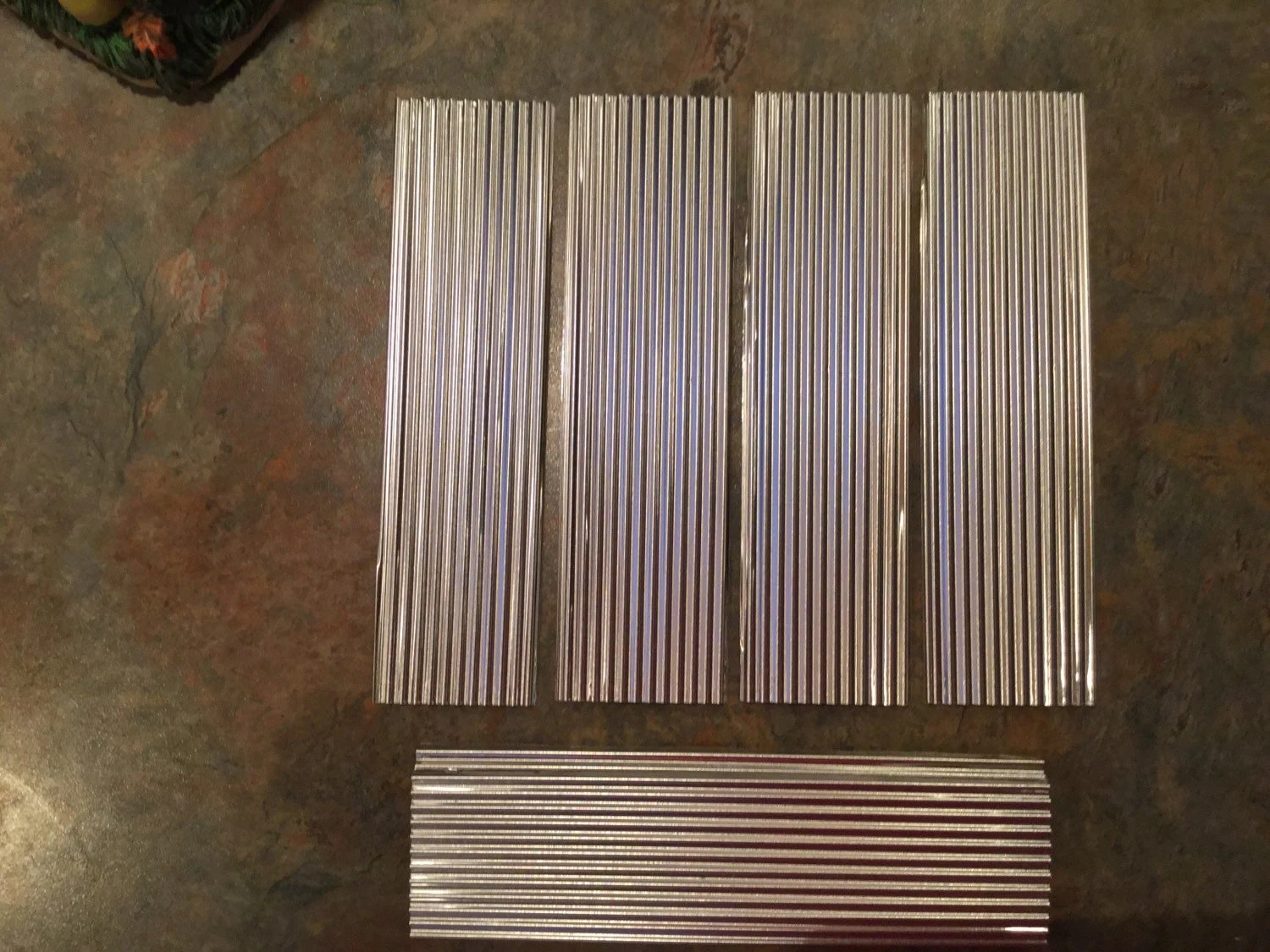 CORRUGATED METAL 12 Pc Set Roofing  Tin Craft Supplies for Bird Houses Weddings Model
