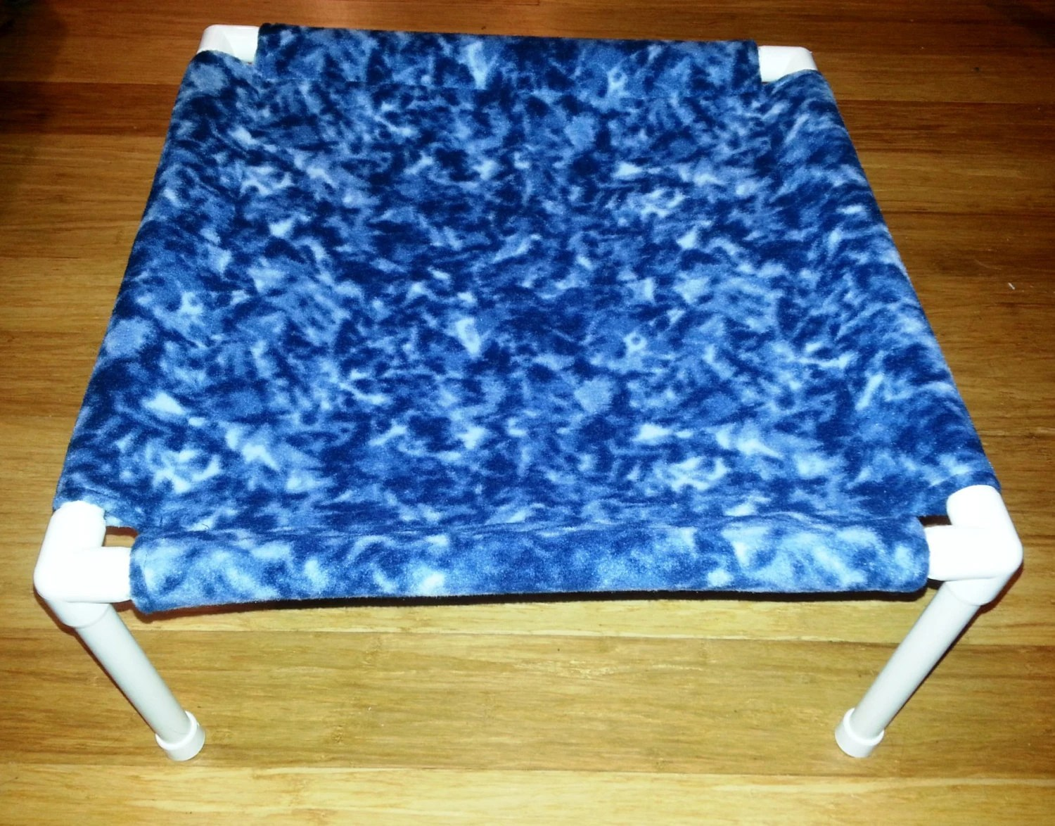 The Pet Hammock Fleece Fabric Blue Tie Dye Pattern