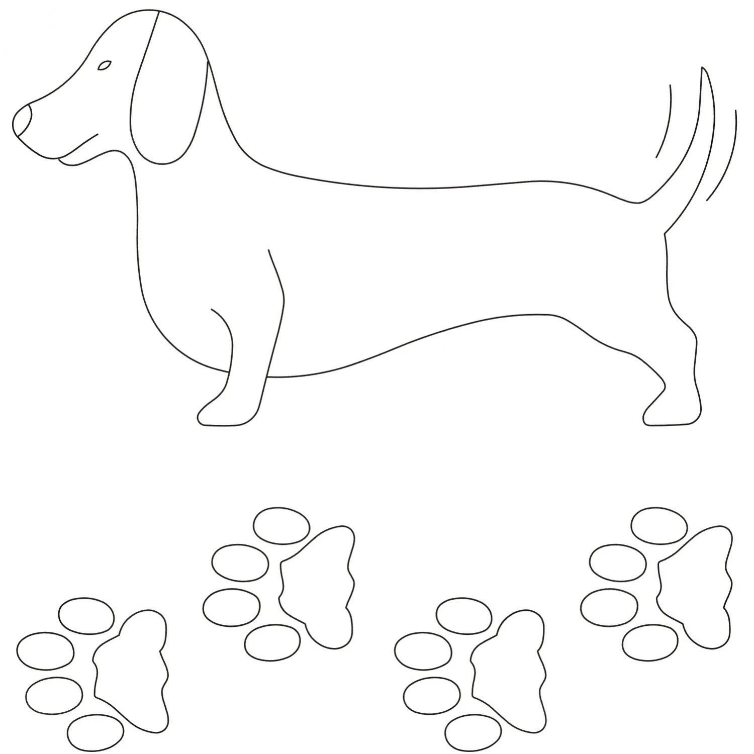 Notion: Stencil Template Dachshund DOG DOXIE PAWS
