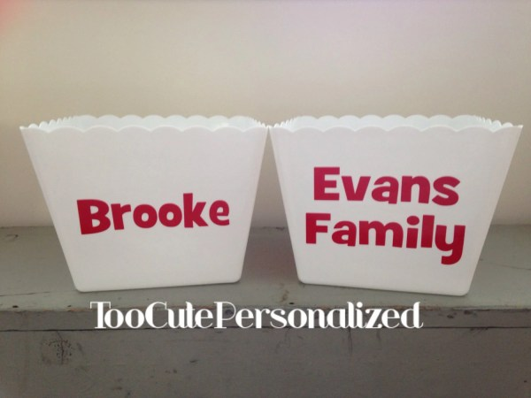 Personalized Popcorn Bucket Tubs Toocutepersonalized