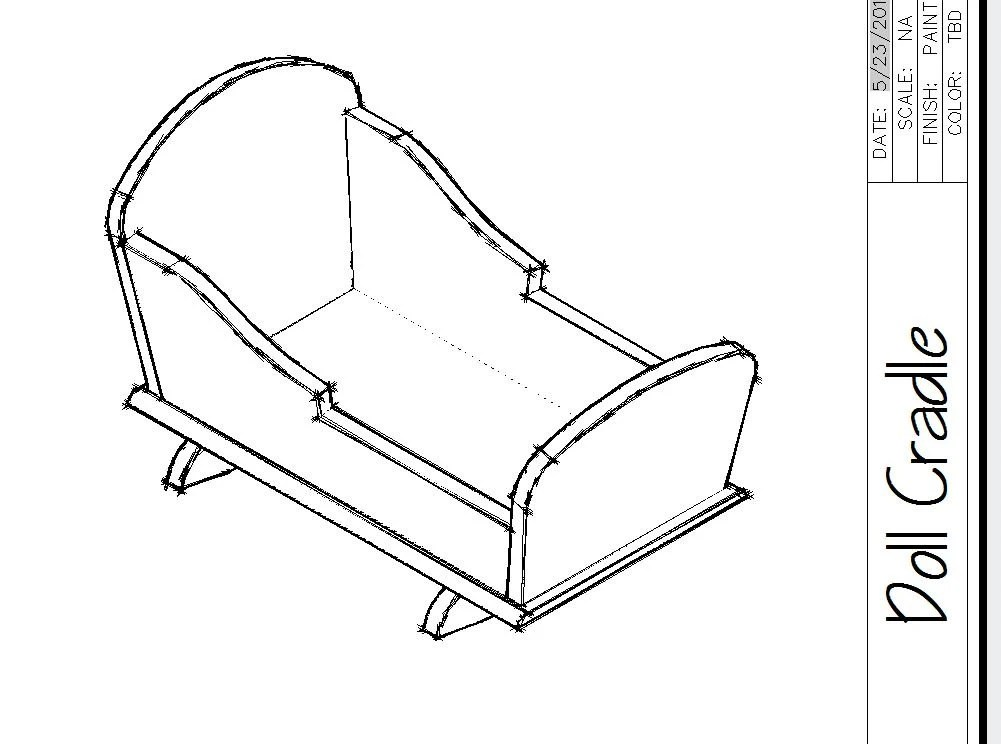DOLL BED WOODWORKING plans American Girl doll size bed