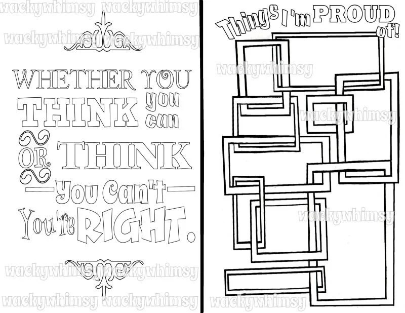 Printable Planner Coloring Journal Page A5/Half