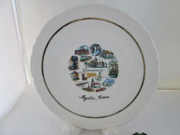 Mystic Connecticut Souvenir Plate City State