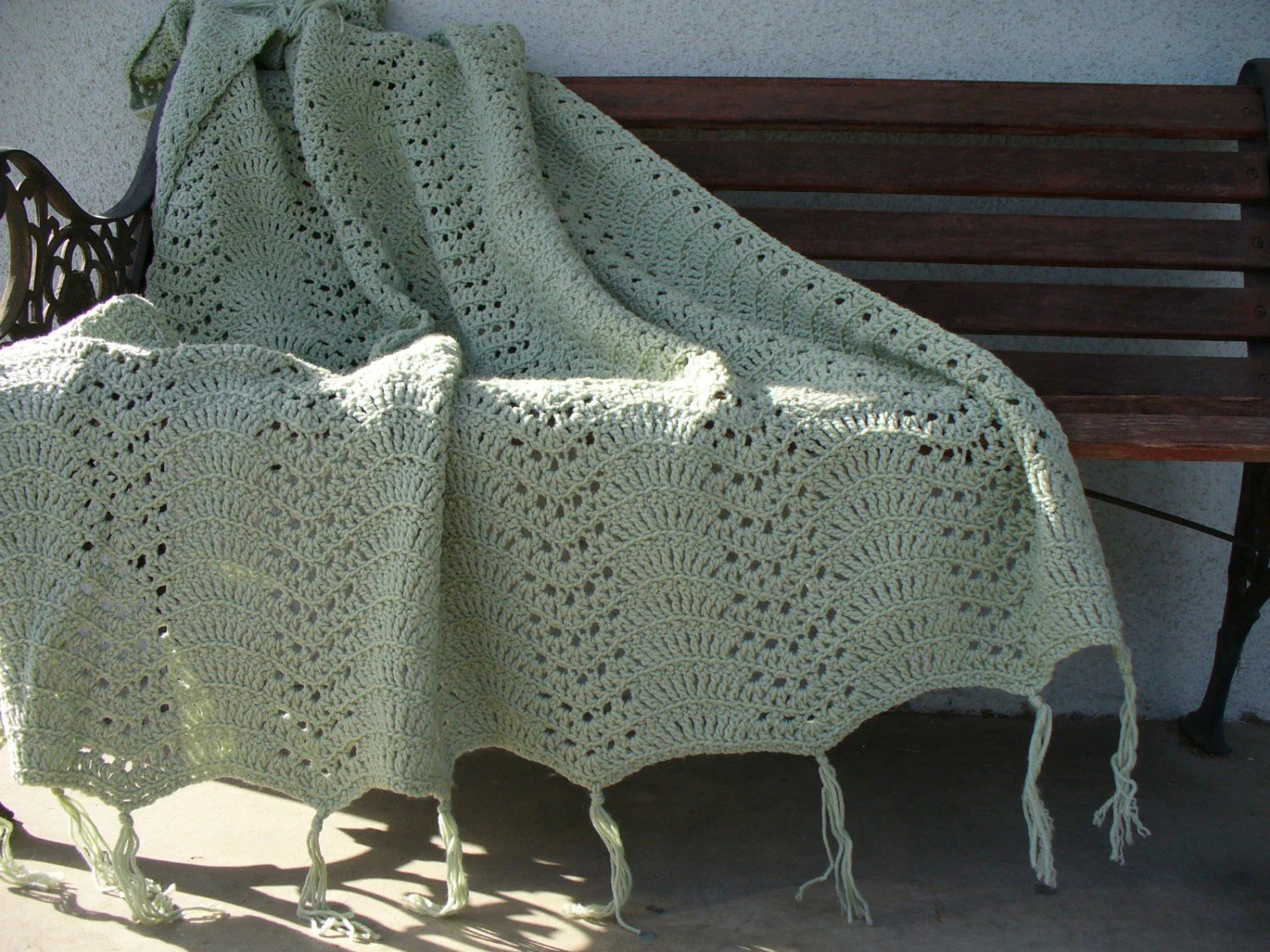 daybed sofa cover slipcovers for sofas with attached pillows crochet sage green afghan country home throw blanket
