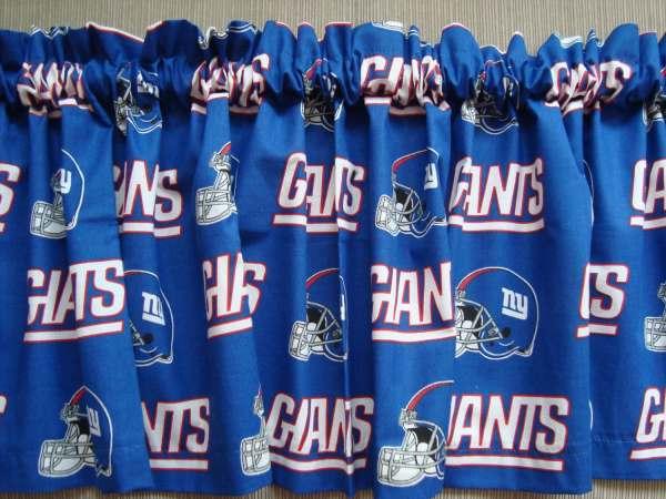 York Giants Football Sports Handmade Curtain Valance