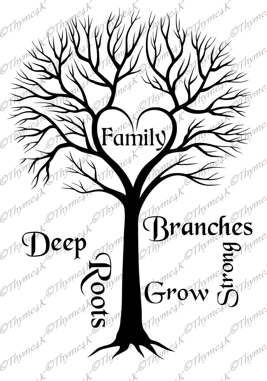 Digital Design File Svg Family Tree Deep Roots
