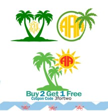 Beach Monogram Svg - Year of Clean Water