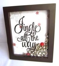 Jingle All the Way Frame READY TO SHIP Jingle Bell Frame