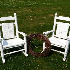 Antique Wooden Rocking Chairs Wheelchair Clearance White Childrens Chair Set Of 2