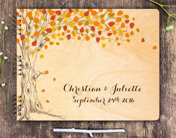 Fall Wedding Guest Book Fall Tree Guest Book Autumn Tree