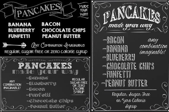 Bakery Sign Custom Bakery Price Sign Pancake Sign
